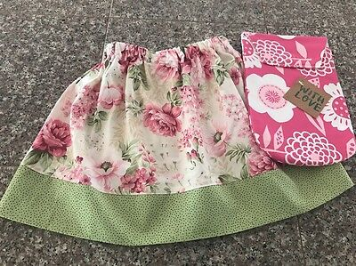 Custom Boutique Girls Toddler Skirt Wipes Pouch Case One Size Fits 3T 4T 5T NWT