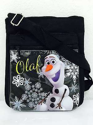 Disney Frozen Olaf Two Layers Flippable Shoulder Bag with Adjustable Shoulder St