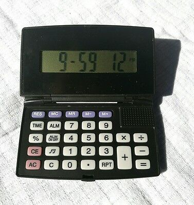 ELECTRONIC SPEAKING CALCULATOR. Flip Top. Type and talk, speaking answer. VGC