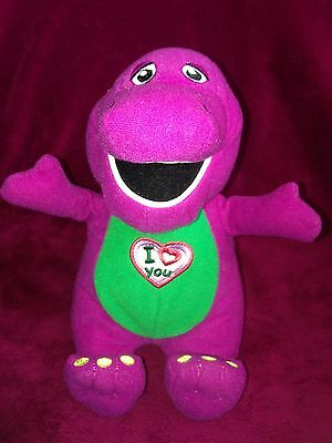 "Barney The Dinosaur - 9"" Singing (I Love You You Love Me) Plush Soft Toy - 2007"