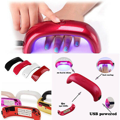 UK 9W Rainbow USB LED UV Gel Lamp Curing Polish Dryer Portable Nail Art Tool