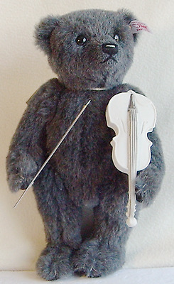 Steiff Mohair Musical Bear Lladro Violinist Limited Edition Box & Certificate