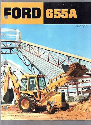 1987 Ford Tractor 655A Backhoe Loader A Series Sales Brochure