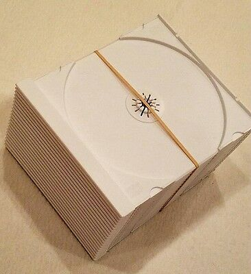 Cd Trays White  ( 20 ) Count / For Standard Jewel Case
