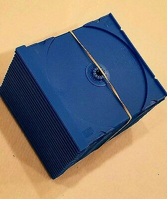 Cd Trays Blue  ( 20 ) Count / For Standard Jewel Case