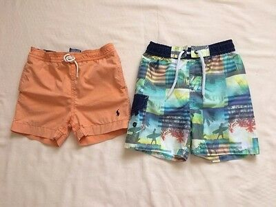 Ralph Lauren, H&T Baby Boys Bundle of Swimming Trunks / Shorts 18 & 24 m / 2 Yrs