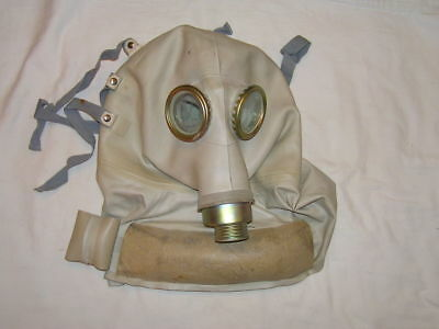 Original elephant-like gas masks designed for a wounded soldier in the head