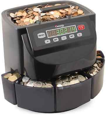 Coin Counter Bank Sorter And Wrapper Machine Change Jar Money Digital Electronic