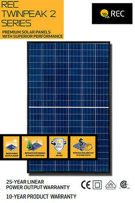 Rec Twinpeak 2 Series Solar Panel Rec290Tp2 Pv Modules 290W Poly/black Frame