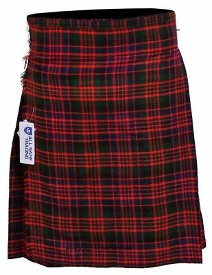 MacDonald Men's 5 Yard 13 Oz Casual Wear, Light Weight, Scottish Tartan Kilt