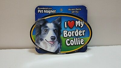 "Scandical I Love My BORDER COLLIE Dog Laminated Car Pet Magnet 4"" x 6"" MP 113"