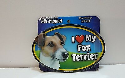 "Scandical I Love My FOX TERRIER Dog Laminated Car Pet Magnet 4"" x 6"" MP 136"