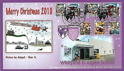 Gb 2010 Christmas, Whitfield School Official Fdc, 300 Numbered Covers Produced