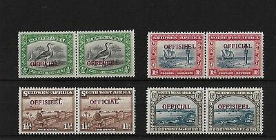 South West Africa Sg018/20, 1945-50 Set Mounted Mint, Cat £80