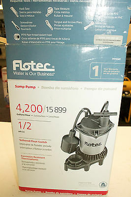 Flotec FPZS50T Submersible Sump Pump 115V 1/2HP 4200 Gallons/Hour Open Box