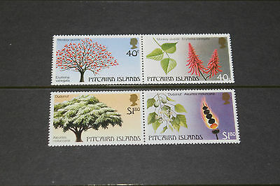 Pitcairn Islands 1987  Trees,,series 2  Se-Tenant Set Of 4 Fine M/n/h Cond