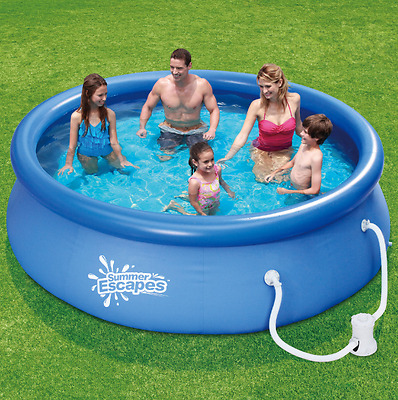 Above Ground Swimming Pool 10 x 30 Round with Filter Pump System Summer Backyard