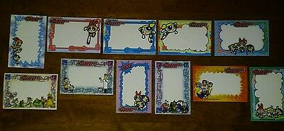 Vintage Power Puff Girls Picture Frame Stickers. Lot of 11 (2001)