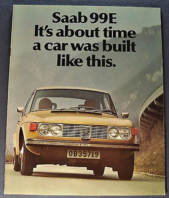 1972 Saab 99E Catalog Sales Brochure Excellent Original 72