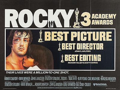 "Rocky 1976 16"" x 12"" Reproduction Movie Poster Photograph"