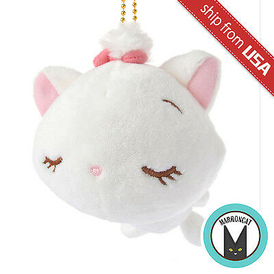 Japan Disney Store Marie Plush Mocchi Sleeping Cat The Aristocats Keychain Charm