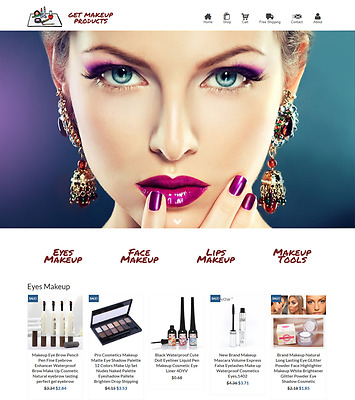 Dropshipping Makeup eCommerce Website Business Ready to Go with HUGE Potential
