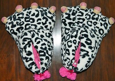 PAWS Slippers Adorable & Fuzzy Girls size 10/12