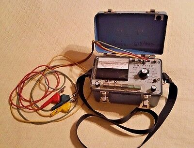 Vintage Western Electric Test Kit # 145AS1 Aluminum Box and Shoulder Strap