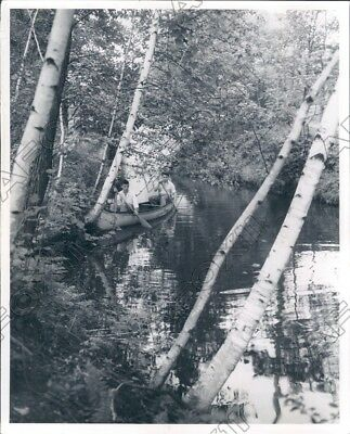 1954 Wisconsin Canoeists Traced the Early Missionaries Routes Press Photo