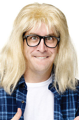 Brand New SNL Garth Algar Costume Wig and Glasses Wayne World Accessory