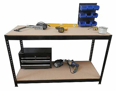 HEAVY DUTY METAL WORKBENCH 1.5m LENGTH AND ADJUSTABLE WORK BENCH