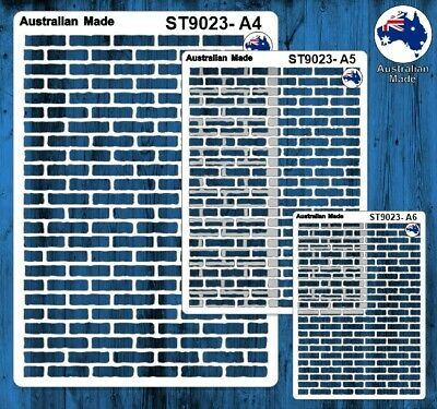 Stencils, Masks for Scrapooking, Cardmaking - ST9023 Bricks, A4, A5, A6