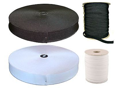 """High Quality Flat Woven Elastic for Sewing Waistband Tailoring 3/4"""" 1"""" 1/2"""""""