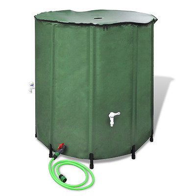 Portable Collapsible Rain Water Tank 500 L ABS Outlet Valve with Hose