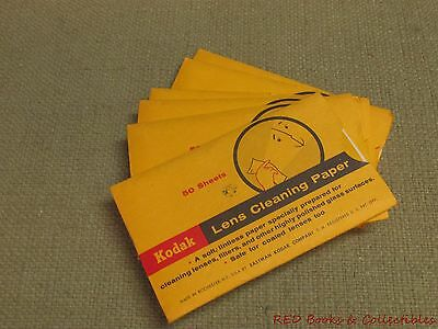 Vintage Kodak Lens Cleaning Paper Six Packs of 50 FREE US SHIPPING