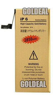 NEW High Capacity 2850mAh Replacement Gold Battery for Apple iPhone 6