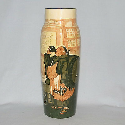 Royal Doulton Monks in the Cellar vase 9 inches tall early 1900s