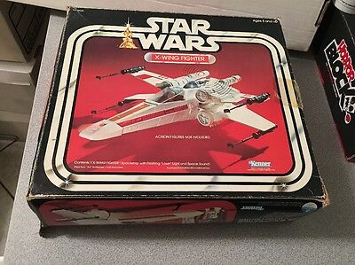 Star Wars 1977 X-Wing Fighter W/ Box & Insert Vintage RARE