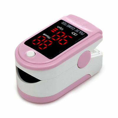 FDA CMS50DL pink Fingertip Pulse oximeter Spo2 Monitor Blood Oxygen LED case