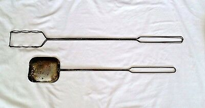 Vintage Camping Cooking Iron and Hot Dog Weenie Roaster Steel Rustic Decor
