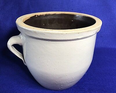 Rare Antique Hawthorn PA 1 Gal Handled Crock Stoneware Pottery H.P. Co