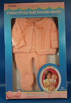 Vintage Fisher Price Soft Sounds  Outfit Nrfb!  New Knit Leggings