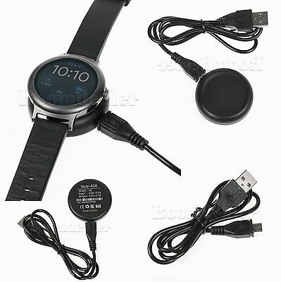 Wireless Qi USB Cable Cradle Charger Charging Dock For LG Watch Style LG-W270 #H