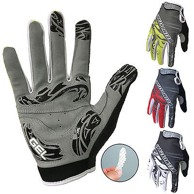 Full Finger Bike Glove Windproof Racing Cycling Glove Shockproof Ride MTB Gloves