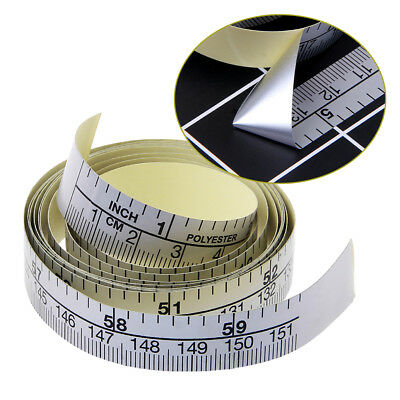 Self Adhesive Metric Measure Tape Vinyl Ruler 151cm For Sewing Machine Sticker