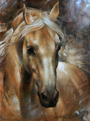"""HIGH QUALITY HAND PAINTED ANIMAL OIL PAINTING : """"HORSE"""" 24"""" x 36"""""""