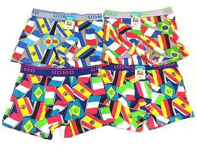 Set of 6 Boxers Maxi Comfort Uomo in Flags / banners