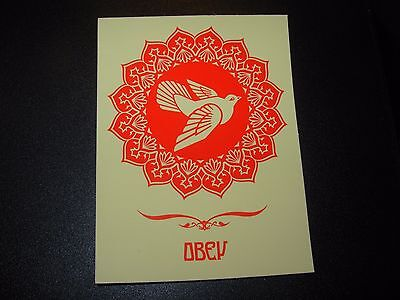 "SHEPARD FAIREY Obey Giant Sticker 3X4"" PEACE DOVE red from poster print"