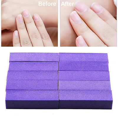 HOT 10PCS Buffing Sanding Buffer Blocks Files Pedicure Manicure Nail Art Tip DIY