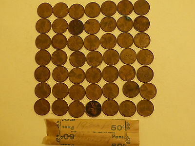 49 pc Roll 1930-P Lincoln Cents circulated